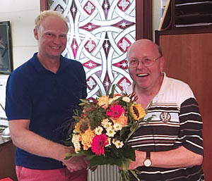 Steuerberater Matthias Graf und Mitarbeiter Volker Schmidt